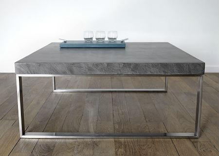 Table basse Kobe béton ciré