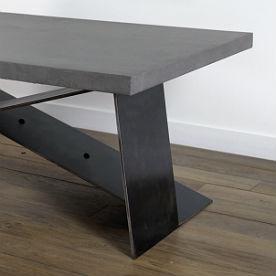 tables et tables basses en béton ciré